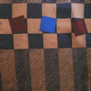 80's Oscar de la Renta black blouse & rayon skirt