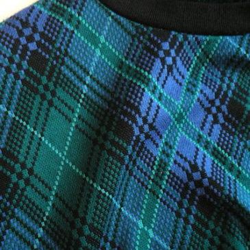 late 80's〜90's tartan check tops & long straight skirt
