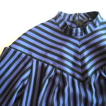80's purple black stripe dress