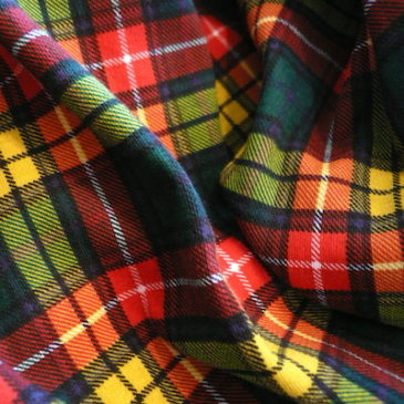 90's tartan check cotton turtle neck