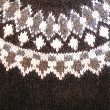 70's brown Nordic sweater