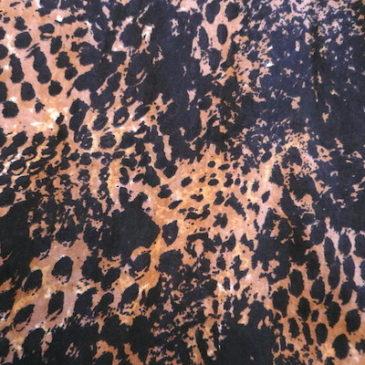 90's metal button shirts & leopard cotton skirt