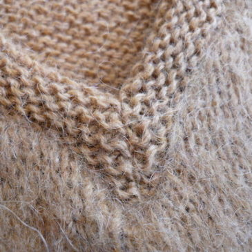 70's camel color mohair sweater & 90's long tight skirt