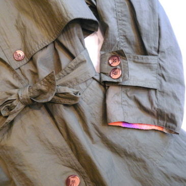 late80〜90's olive green trench coat