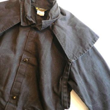 80〜90's black cotton design coat