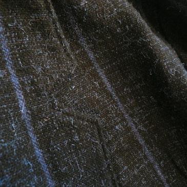 80〜90's blue stripe JKT & leather skirt