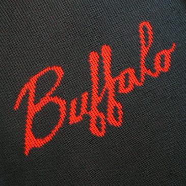 80〜90's buffalo knit sweater & plan check slacks