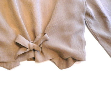 80's beige duble blouse jacket