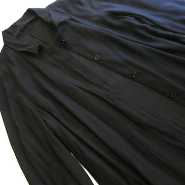 used black rayon shirt dress