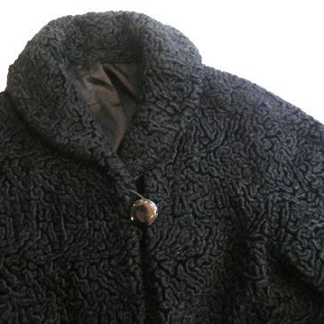 60's fake astrakhan jacket