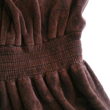 70's brown velour dress
