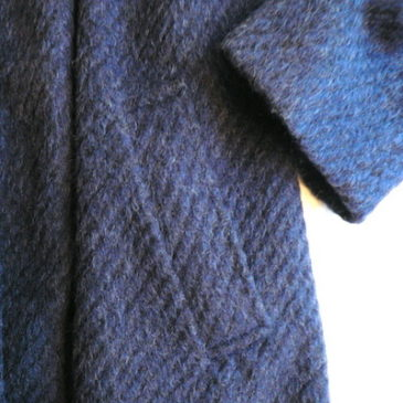 60〜70's midnight blue wool coat