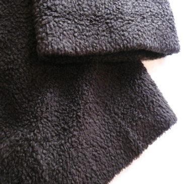 90's dark brown boa half coat