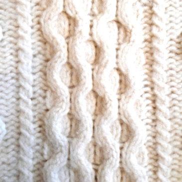 70's Penny's cable knit sweater & tartan check slacks
