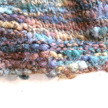 used mixed yarn shawl collar knit & long tight skirt