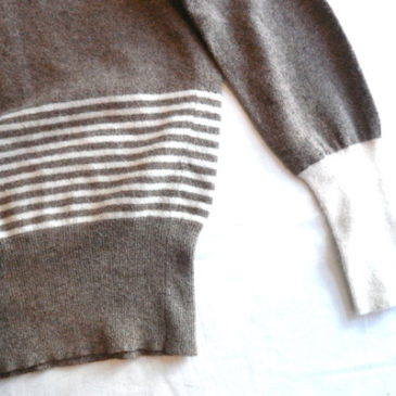 90's〜 angora blend ribbon knit