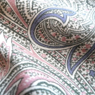 90's pastel color paisley dress