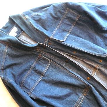 80's denim long coat