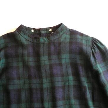 90's green plaid flannel dress