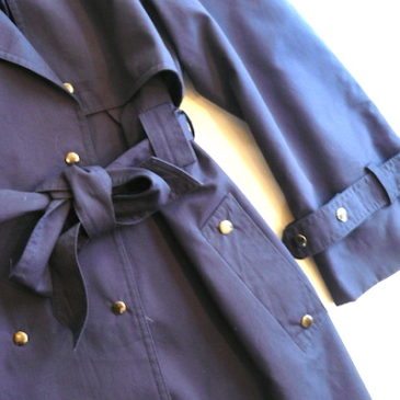 80's navy trench coat