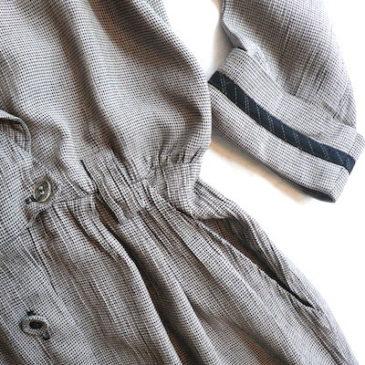 90's houndtooth check dress
