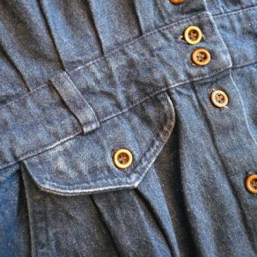 80〜90's metal button denim dress