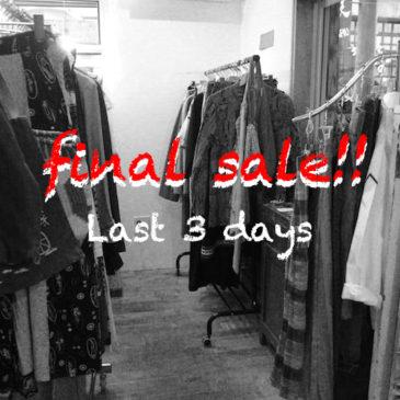 FINAL SALE ★ Last 3 days !!