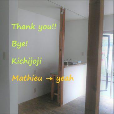 Thank you ! Bye ! Kichijoji★ Mathieu → yeah