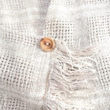 80's beige fringe tops & gray high weist pants