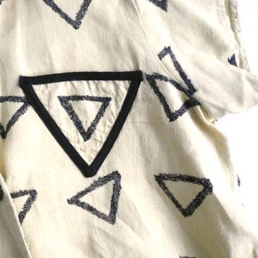 80's △ triangle pattern tunic