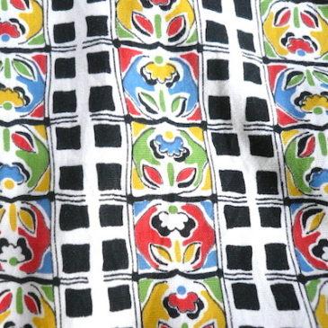 vintage handmade flower pattern dress