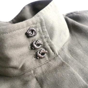 80's floral pattern JKT & khaki brown dress