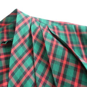 50's plaid cotton jacket blouse