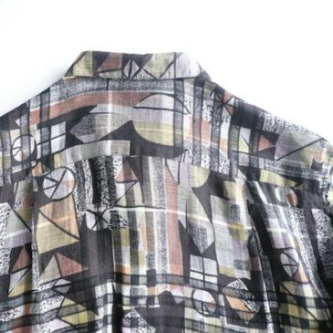 80's pattern long sleeve shirt