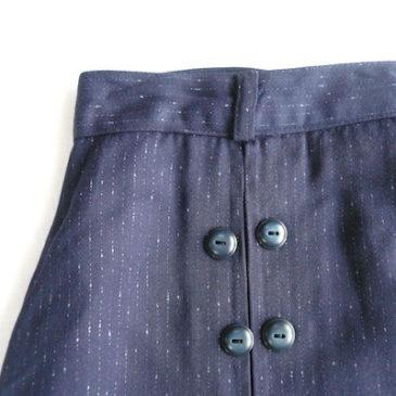 50's sailar collar tops & navy button skirt