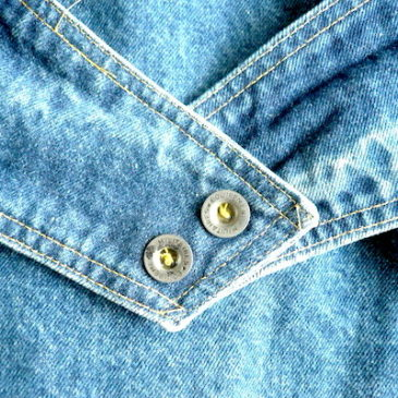 80's denim back belt jacket &  scarlet line  skirt