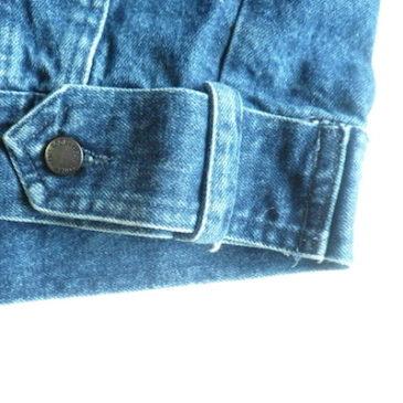 80's long denim jacket