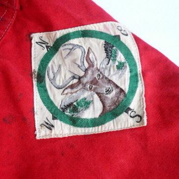 50's hunting cotton zip up hood JKT