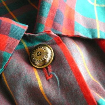 60's tartan check coat