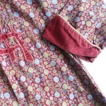 40's floral print robe