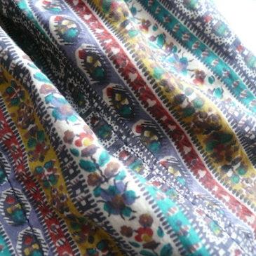 70's Tyrolean pattern short JKT & flannel lined jeans