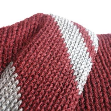 40's Burgundy sweater & 60~70's tweed skirt
