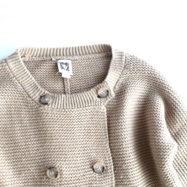 80〜90's Anne Klein long knit & dark navy pattern poly dress