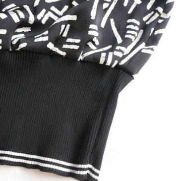 80's monotone pattern 2 pcs & mohair knit cardigan