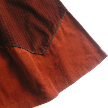 90's glitter high neck knit & 70~80's corduroy skirt