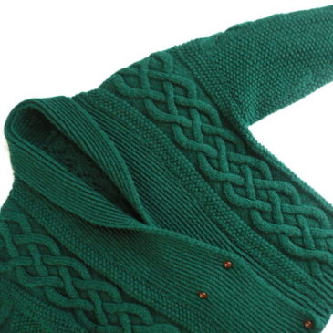 80's green showl collar knit cardigan & used Euro military wool trousers