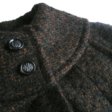 60's brown tweed coat