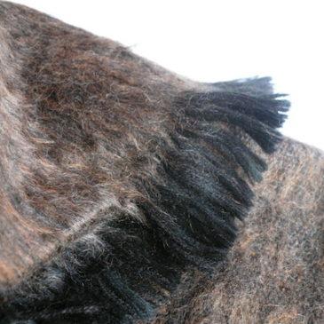 used alpaca blend fringe poncho