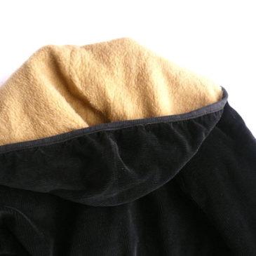 60's boa lining black corduroy jacket