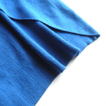 used blue knit poncho